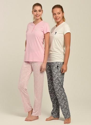 U.S. Polo Assn. Pijama Takım Ekru